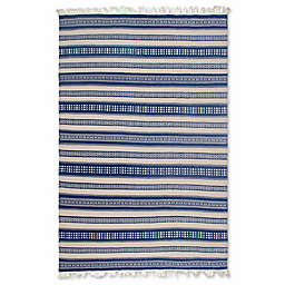 Fab Habitat Estate Collection Chatsworth Indoor/Outdoor Rug in Blue