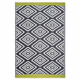 Fab Habitat World Collection Valencia Indoor/Outdoor Rug in Grey