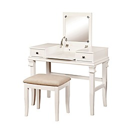 Linon Home Angela 2-Piece Vanity Set