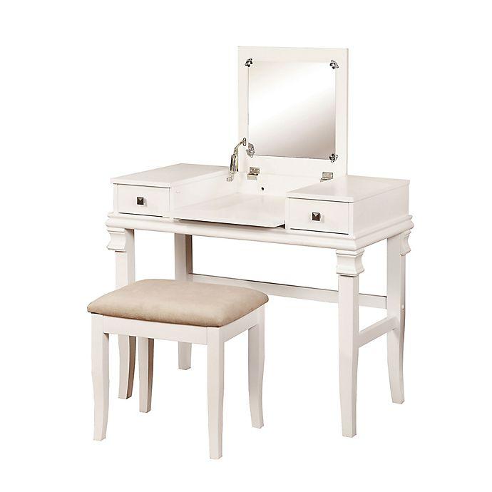 Alternate image 1 for Linon Home Angela 2-Piece Vanity Set