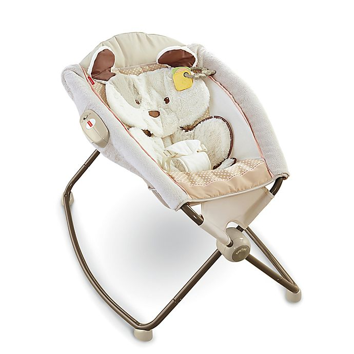 Alternate image 1 for Fisher-Price® My Little Snugapuppy Deluxe Rock N' Play Sleeper
