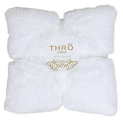 Thro Chubby Reversible Faux Fur Throw Pillows (Set of 2)