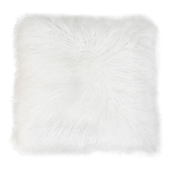 Alternate image 1 for Thro Keller Faux Mongolian Square Throw Pillow Collection