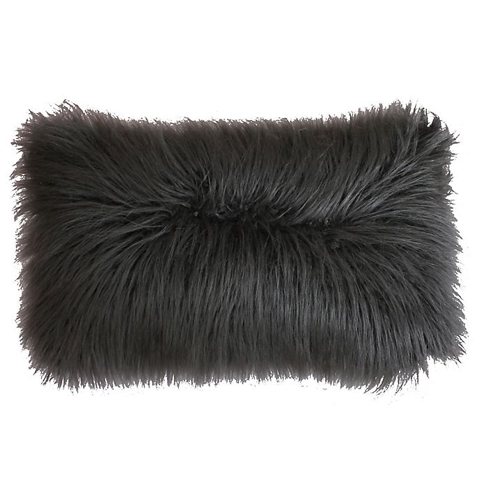 Alternate image 1 for Thro Keller Faux Mongolian 14-Inch x 22-Inch Throw Pillow