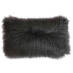 Thro Keller Faux Mongolian 14-Inch x 22-Inch Throw Pillow