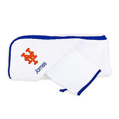 Designs by Chad and Jake MLB New York Mets Personalized Hooded Towel Set
