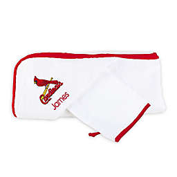 Designs by Chad and Jake MLB St. Louis Cardinals Personalized Hooded Towel Set