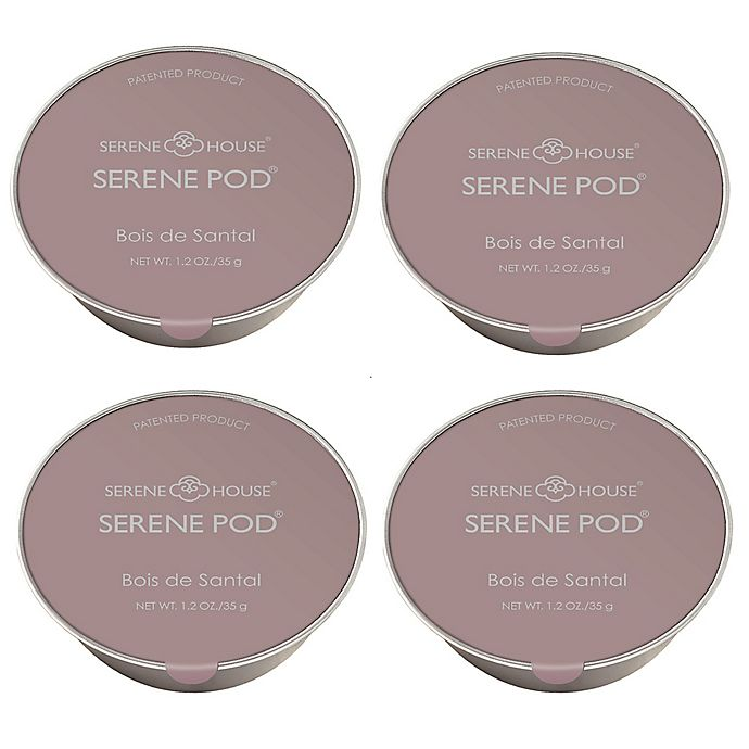 Alternate image 1 for Serene House® Serene Pod® No Spill Wax Melt Pods in Sandalwood (Set of 4)
