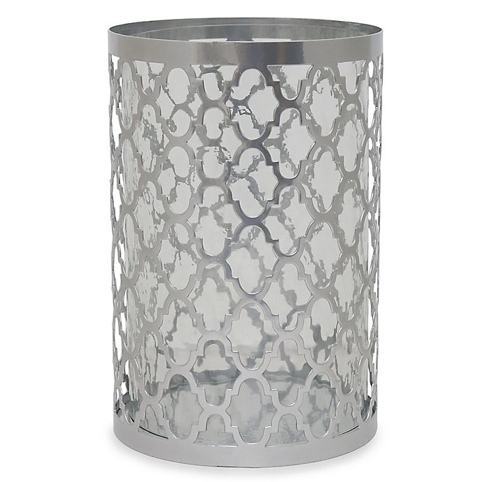 Alternate image 1 for 10.5-Inch Quatrefoil Candle Holder in Silver