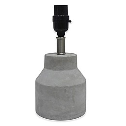 Adesso® Cement Table Lamp Base with CFL Bulb in Grey