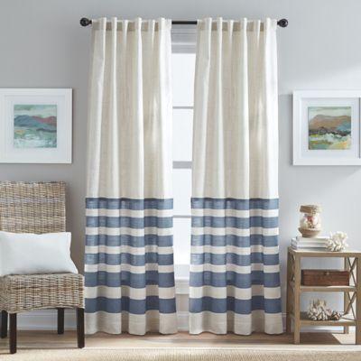 Verano Back Tab Window Curtain Panel In Blue Bed Bath
