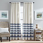 Verano 84-Inch Back Tab Window Curtain Panel in Blue