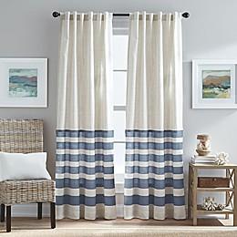 Verano Back Tab Window Curtain Panel in Blue