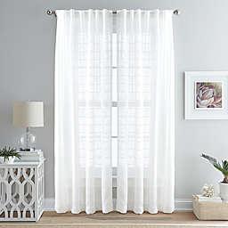 Island Breeze Light Filtering Back Tab Window Curtain Panel in Ivory