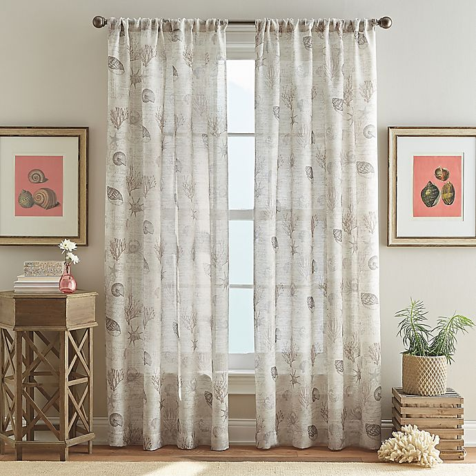 Alternate image 1 for Ferni 95-Inch Pole Top Window Curtain Panel in Natural