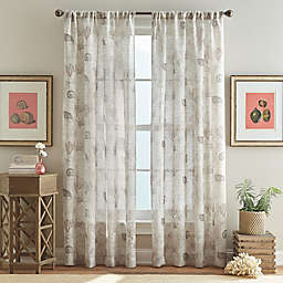 Ferni Pole Top Window Curtain Panel in Natural