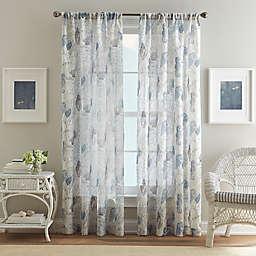 Aquarium Pole Top Window Curtain Panel in Blue