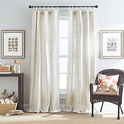 Seattle Tie Tab Window Curtain Panel in Natural