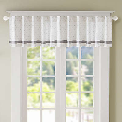 Regency Heights Lizzie Dot Lined Window Valance in Grey