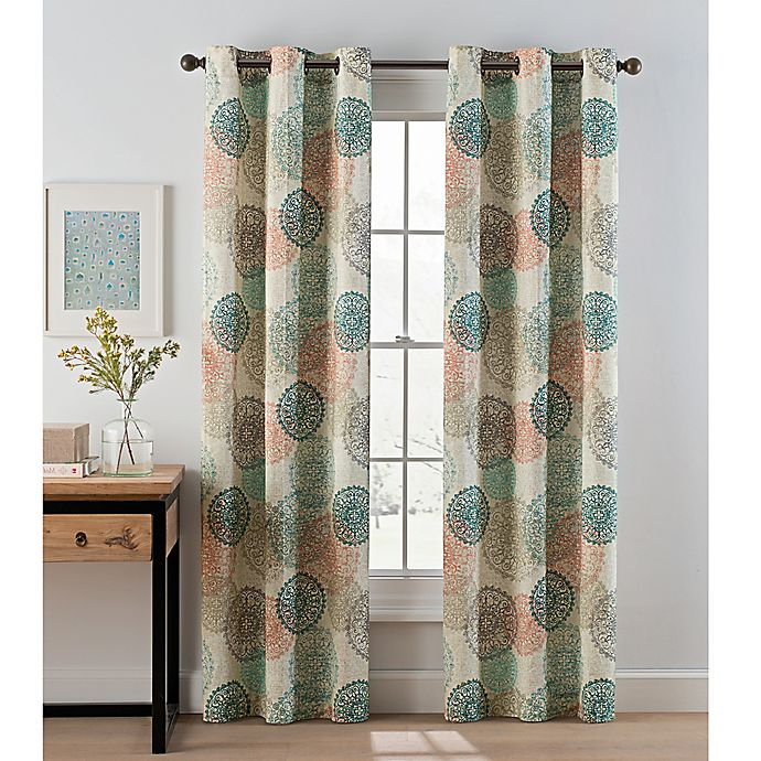 Medallion Grommet Top Window Curtain