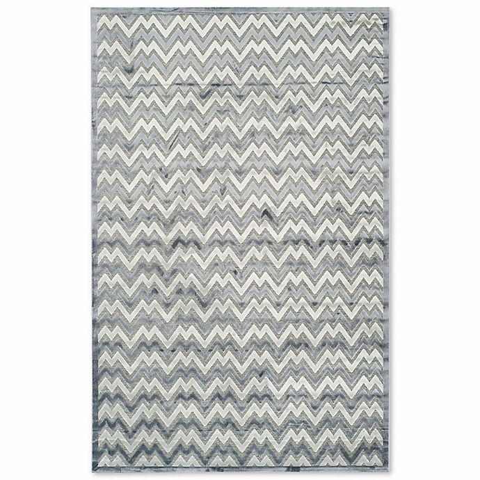 Alternate image 1 for Safavieh Paradise Zag 5-Foot 1-Inch x 7-Foot 6-Inch Area Rug in Light Grey/Dark Grey