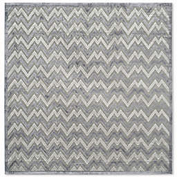 Safavieh Paradise Zag 6-Foot 7-Inch Square Area Rug in Light Grey/Dark Grey