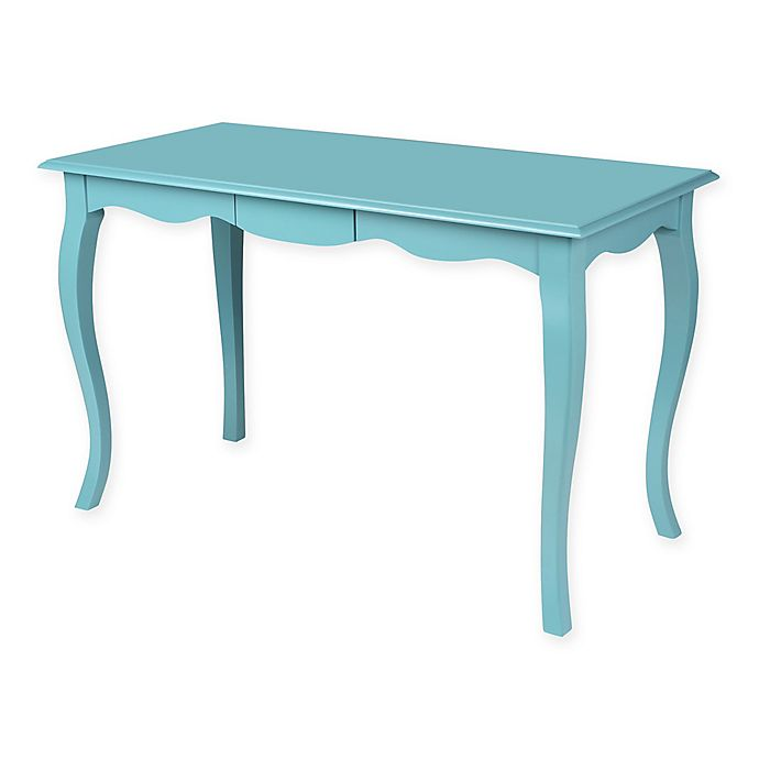 Alternate image 1 for Kate And Laurel Palermo Wood Writing Desk in Teal