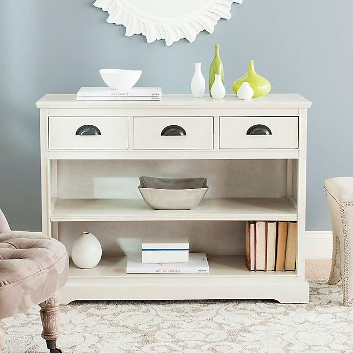 Alternate image 1 for Safavieh Prudence Bookshelf in White