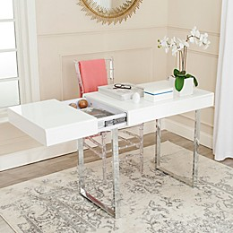 Safavieh Berkley Desk in White/Chrome