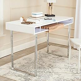 Safavieh Metropolitan Desk in White/Chrome