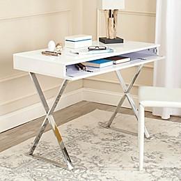 Safavieh Gordon Desk in White/Chrome