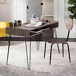 Safavieh Winta Desk and Chair Set in Grey/Black