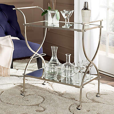 Safavieh Lucretius Bar Cart in Silver