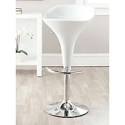 Safavieh Yatim Gas Lift Bar Stool in White