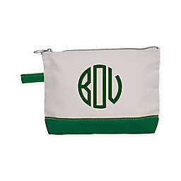 CB Station Makeup Bag in Natural/Emerald