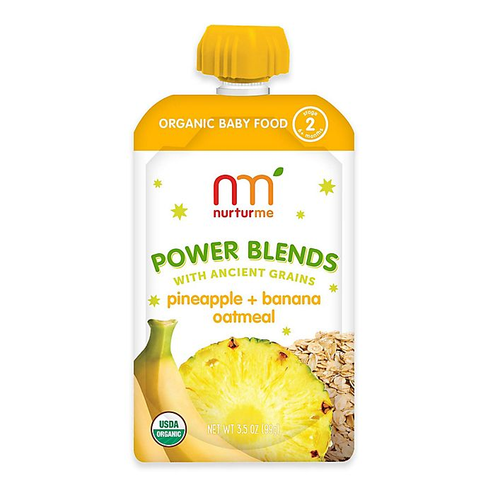 Alternate image 1 for NurturMe Power Blend 3.5 oz. Pineapple, Banana, and Oatmeal Puree