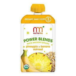 NurturMe Power Blend 3.5 oz. Pineapple, Banana, and Oatmeal Puree