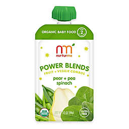 NurturMe Power Blend 3.5 oz. Pear, Pea, and Spinach Puree