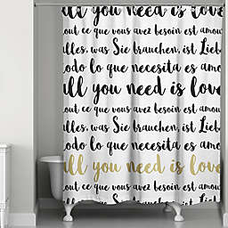 Designs Direct Glam Love Languages Shower Curtain