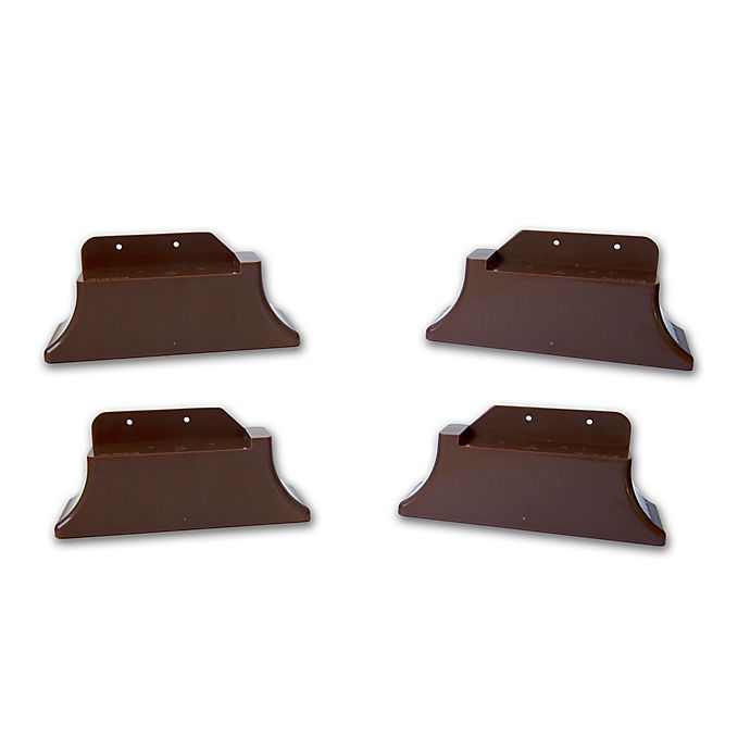 Alternate image 1 for Recliner Risers in Brown (Set of 4)