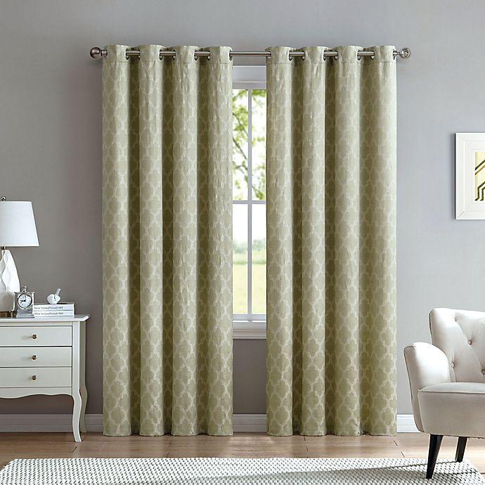 Alternate image 1 for Marrakesh 63-Inch Grommet Top Window Curtain Panel in Sage