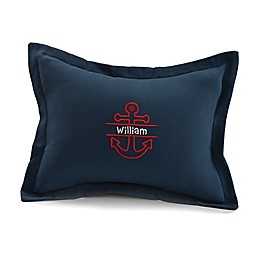 Liz And Roo Throw Pillow in Navy