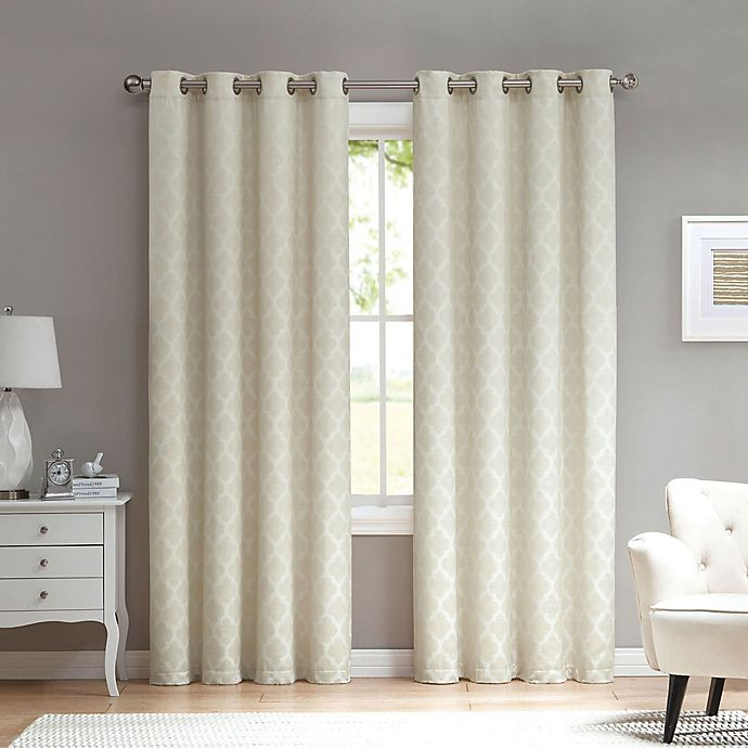 Alternate image 1 for Marrakesh 84-Inch Grommet Top Window Curtain Panel in Ivory