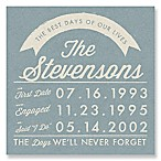 Best Days of Our Lives Canvas Wall Art