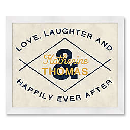 Love & Laughter 28-Inch x 12-Inch Framed Wall Art