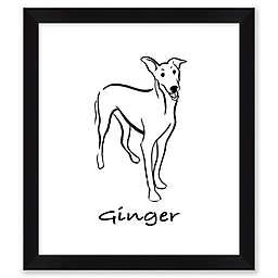 Greyhound 15-Inch x 17-Inch Framed Wall Art
