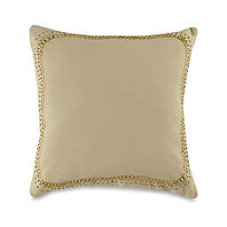 Barbara Barry Windswept Square Throw Pillow in Gold Leaf