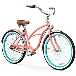 Sixthreezero Paisley Women's 26-Inch 3-Speed Beach Cruiser Bike in Coral Pink