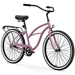 Sixthreezero Around the Block Women's 26-Inch 1-Speed Beach Cruiser Bike in Plum