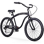 Firmstrong Men's Bruiser  26  Seven Speed Beach Cruiser Bicycle in Matte Black